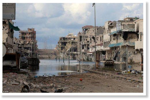 Натовские бомбы разрушили ливанский город Сирт в 2011 г.