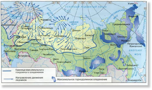 ice age russia map
