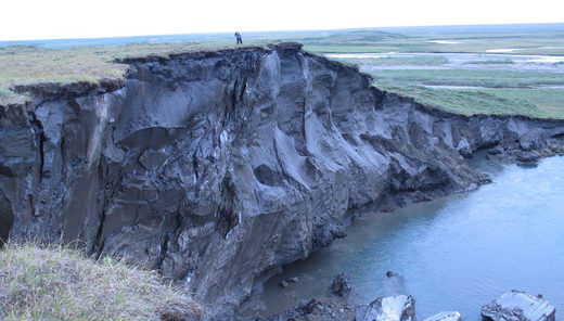 Cross section of a yedoma exposed by river erosion