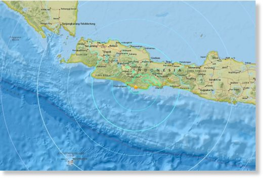 The earthquake has struck the Indonesian island