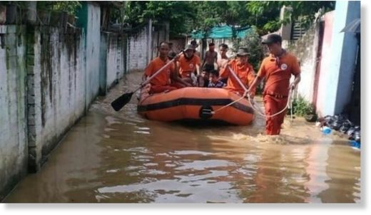 Twelve people have died and 3,000 have been displaced in incessant rain.