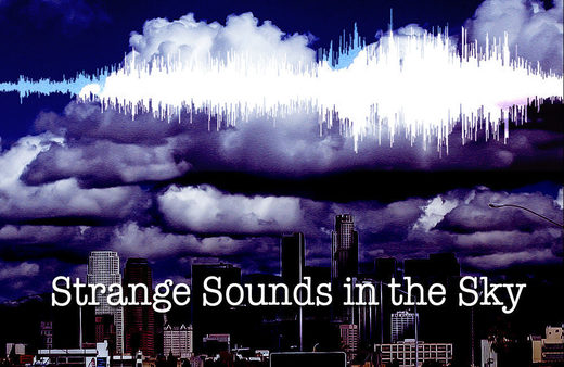 Strange sky sounds (stock)