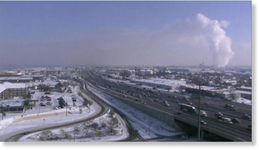 A view of the Denver metro area Monday morning