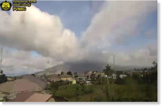 CCTV image shows Mount Sinabung